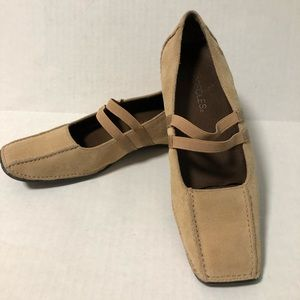 """Aerosoles """"Fine N Andy"""" 6M Tan Suede Leather Shoes"""